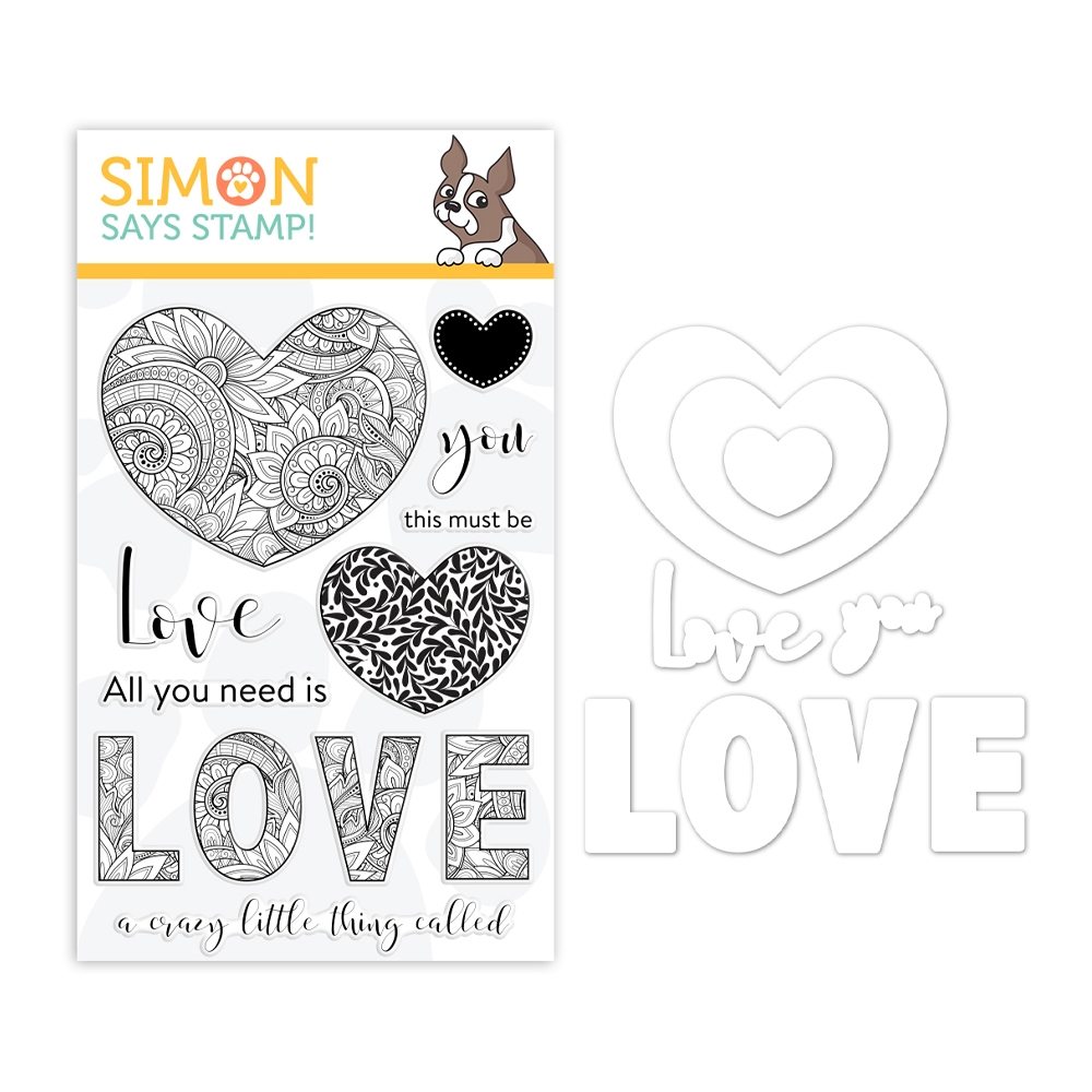 Simon Says Stamps And Dies ORNATE LOVE Set1218OL You Are Loved zoom image