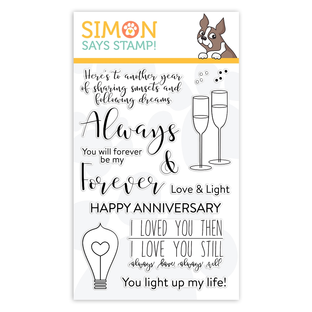 Simon's Exclusive Always and Forever Clear Stamp Set