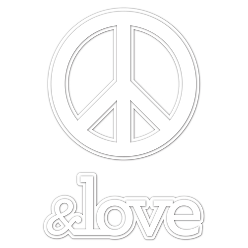 RESERVE Simon Says Stamp PEACE & LOVE Wafer Dies czd44 You Are Loved Preview Image