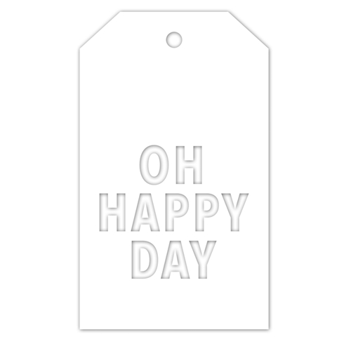 CZ Design OH HAPPY DAY TAG Wafer Die czd45 You Are Loved Preview Image