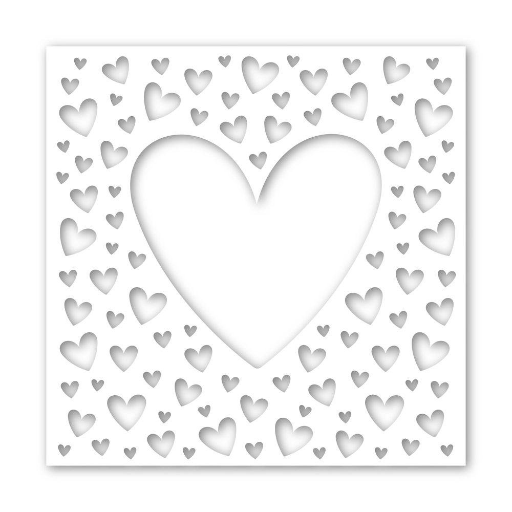 Simon Says Stamp Stencil ALL MY HEART ssst121434 You Are Loved zoom image