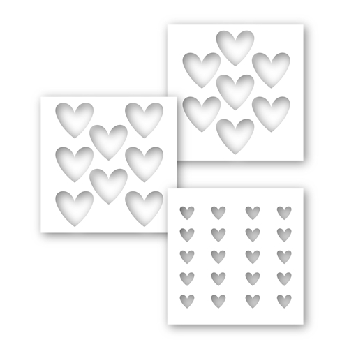 Simon's Exclusive Heart Layers Stencil Set