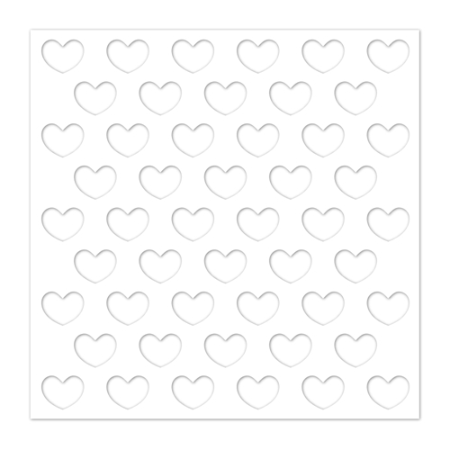 Simon Says Stamp Stencil REVERSE HEARTS ssst121428 You Are Loved Preview Image