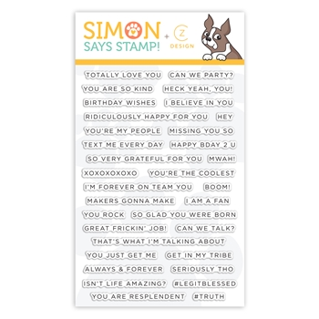 Simon Says Clear Stamps SIMPLE SENTIMENTS 2 cz28 You Are Loved
