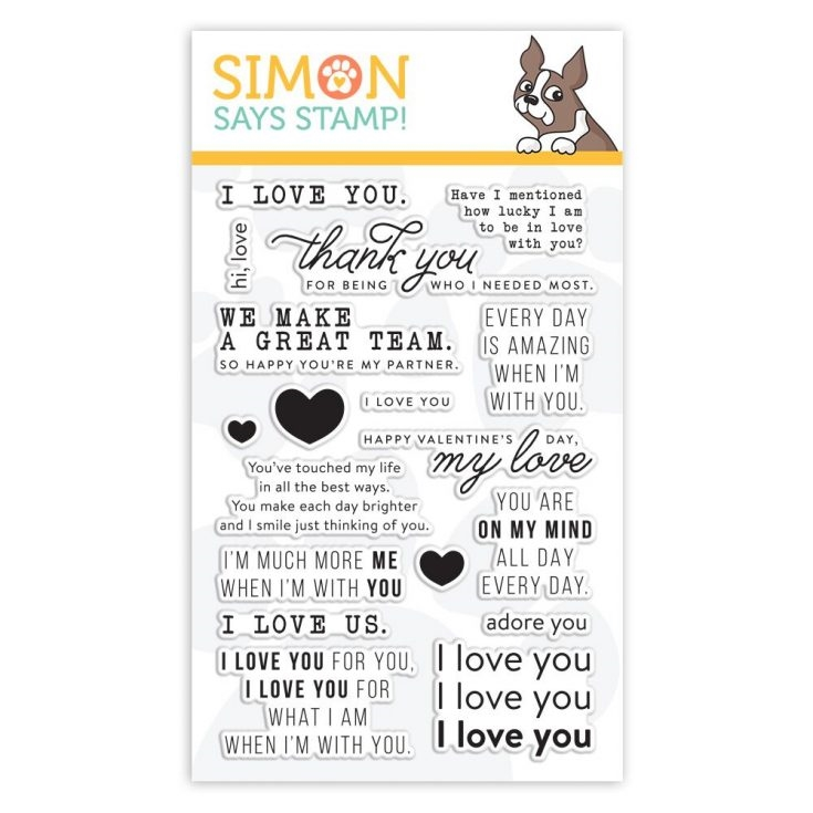 Simon Says Clear Stamps LOVE MESSAGES sss101949 You Are Loved zoom image