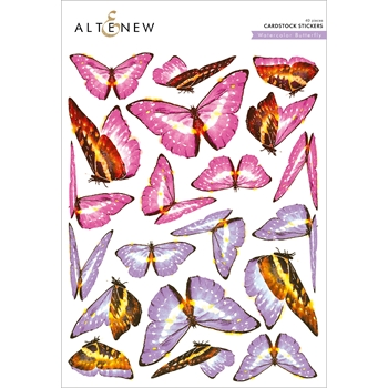 Altenew WATERCOLOR BUTTERFLIES Cardstock Stickers ALT2586