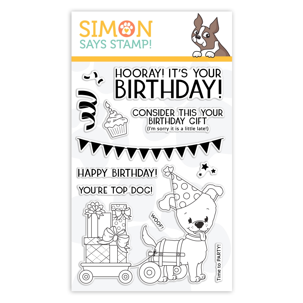 Simon Says Clear Stamps TOP DOG BIRTHDAY sss101958 You Are Loved zoom image