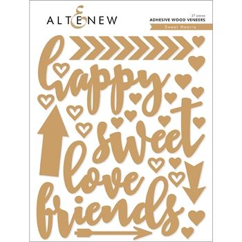 Altenew SWEET HEARTS Adhesive Wood Veneers ALT2585