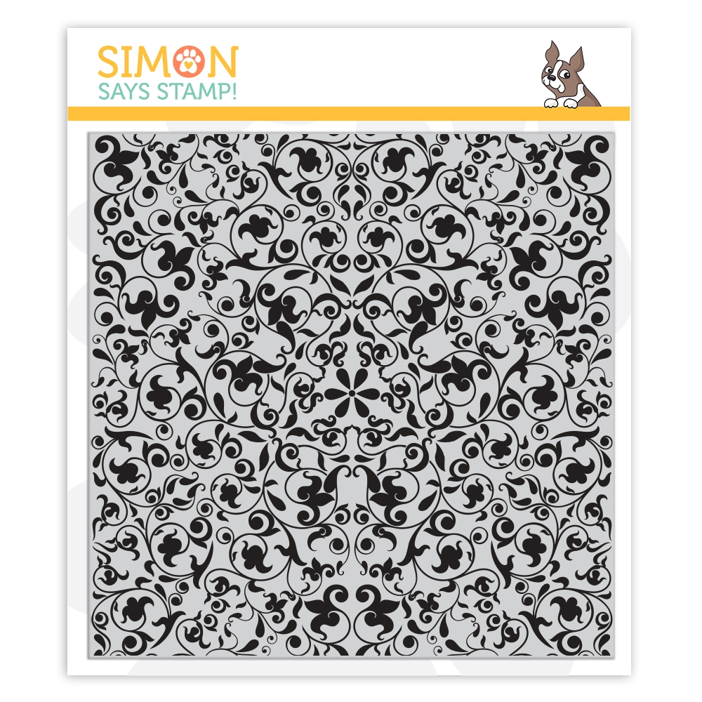 Simon Says Cling Rubber Stamp FLOURISH BACKGROUND sss101945 You Are Loved zoom image