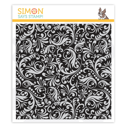 Simon's Exclusive Damask Background Cling Stamp