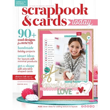 Scrapbook & Cards Today Magazine WINTER 2018 Issue wsct18