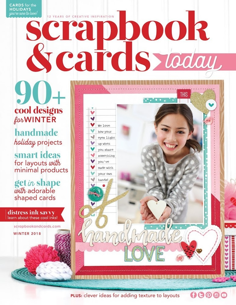 Scrapbook & Cards Today Magazine WINTER 2018 Issue wsct18 zoom image