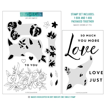 Concord & 9th JUST LOVE Clear Stamp Set 10512
