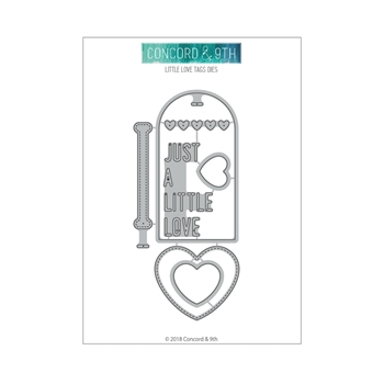Concord & 9th LITTLE LOVE TAGS Die Set 10516
