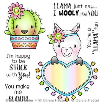 Darcie's LLAMA FUN Clear Stamp Set pol415
