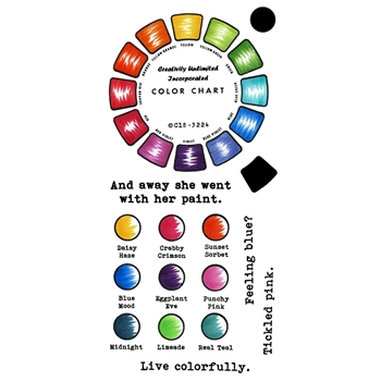 Inky Antics COLOR WHEEL Clear Stamp Set 11428lc