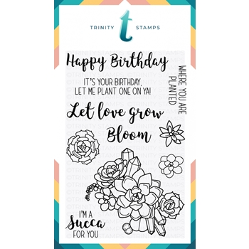 Trinity Stamps LET LOVE GROW Clear Stamp Set 1542608156