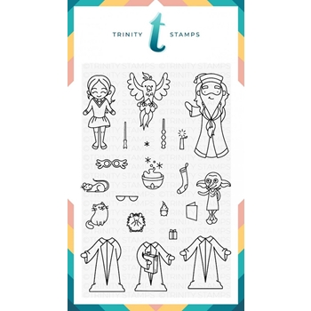 Trinity Stamps WIZARD FRIENDS Clear Stamp Set 1541149655