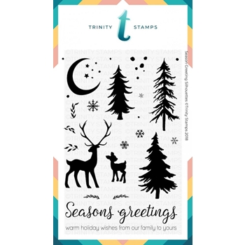 Trinity Stamps SEASON GREETINGS SILHOUETTES Clear Stamp Set 1541147944