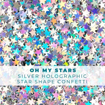 Trinity Stamps OH MY STARS HOLOGRAPHIC STAR CONFETTI Embellishment Bag 1544042524