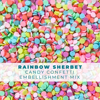 Trinity Stamps RAINBOW SHERBET CANDY CONFETTI SPRINKLES Embellishment Bag 1541171051