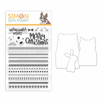 Simon Says Stamps And Dies CRITTER SWEATERS set334cs Fun And Festive