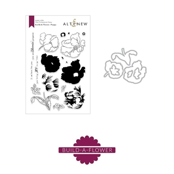 Altenew BUILD A FLOWER POPPY Clear Stamp and Die Set ALT2870