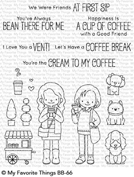 My Favorite Things FRIENDS AT FIRST SIP Clear Stamps BB66 zoom image