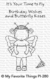 Pure Innocence BUTTERFLY KISSES Clear Stamps MFT PI280