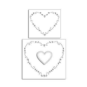 Penny Black HEARTS AROUND Thin Metal Creative Dies 51-485