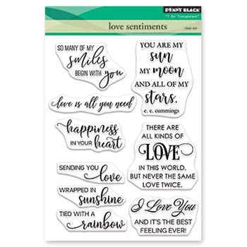 Penny Black Clear Stamps LOVE SENTIMENTS 30-532