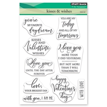 Penny Black Clear Stamps KISSES AND WISHES 30-528