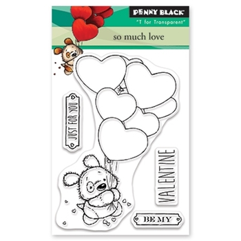 Penny Black Clear Stamps SO MUCH LOVE 30-526