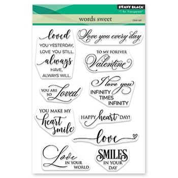 Penny Black Clear Stamps WORDS SWEET 30-525