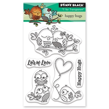 Penny Black Clear Stamps HAPPY HUGS 30-524