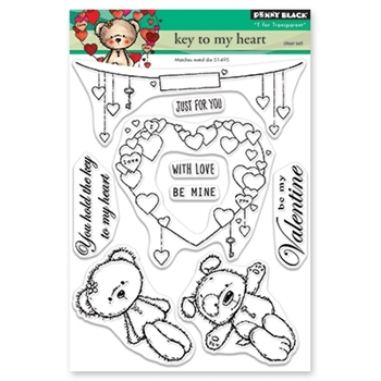 Penny Black Clear Stamps KEY TO MY HEART 30-523