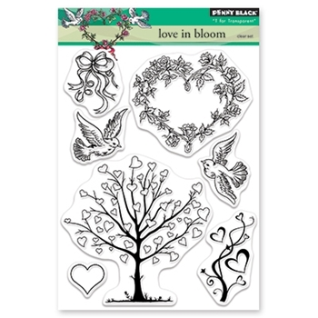 Penny Black Clear Stamps LOVE IN BLOOM 30-522