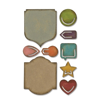 RESERVE Tim Holtz Sizzix NOTED Sidekick Side-Order Thinlits 664150