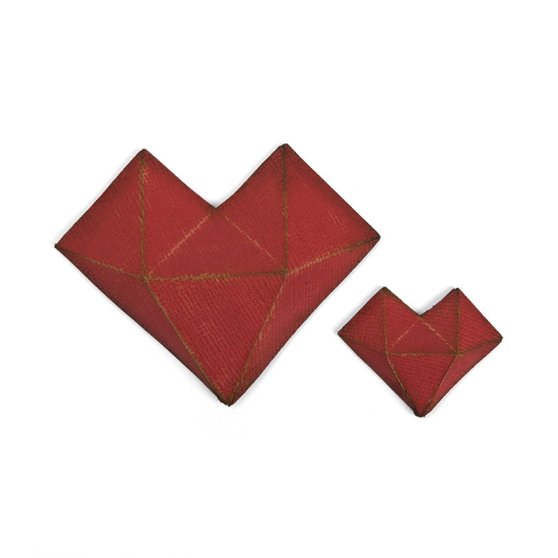 Tim Holtz Sizzix FACETED HEART Thinlits Die 664156 zoom image