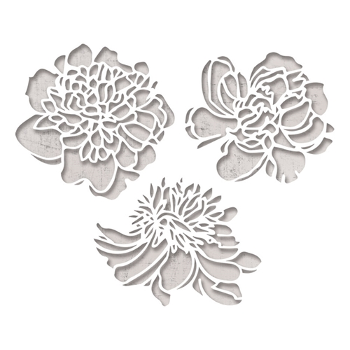 Tim Holtz Sizzix CUTOUT BLOSSOMS Thinlits Die 664161 Preview Image