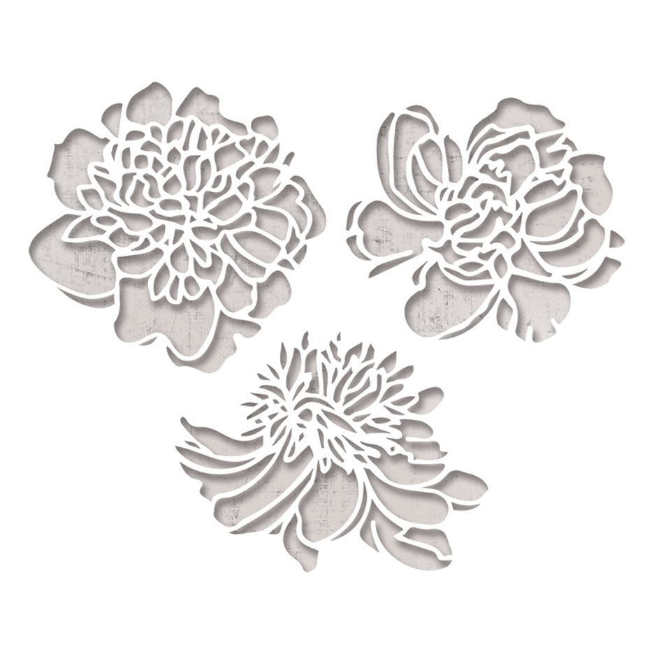 Tim Holtz Sizzix CUTOUT BLOSSOMS Thinlits Die 664161 zoom image