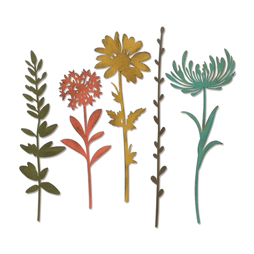 Tim Holtz Sizzix WILDFLOWER STEMS 1 Thinlits Die 664163 Preview Image