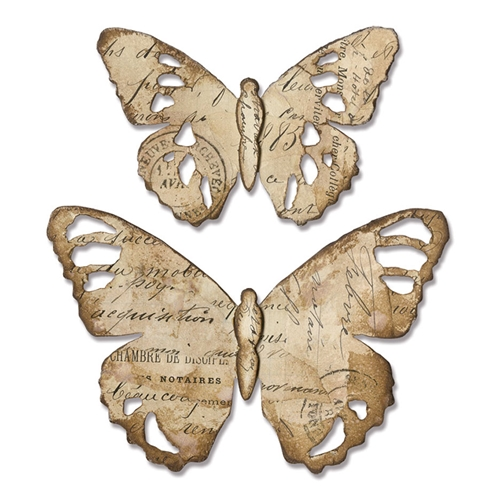 Tim Holtz Sizzix TATTERED BUTTERFLY Bigz Die 664166 Preview Image