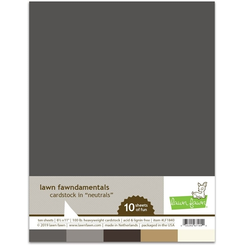 Lawn Fawn NEUTRALS Cardstock Assortment Pack LF1840 Preview Image