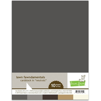 Lawn Fawn NEUTRALS Cardstock Assortment Pack LF1840
