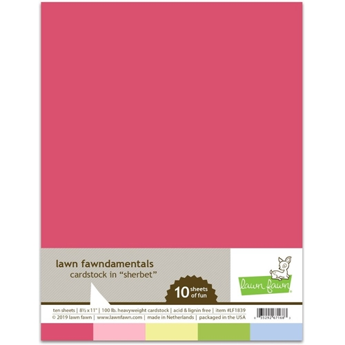 Lawn Fawn SHERBET Cardstock Assortment Pack LF1839 Preview Image