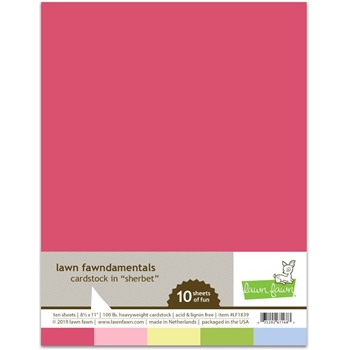 Lawn Fawn SHERBET Cardstock Assortment Pack LF1839