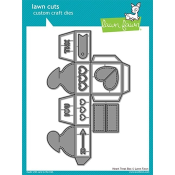 Lawn Fawn HEART TREAT BOX Die Cuts LF1825