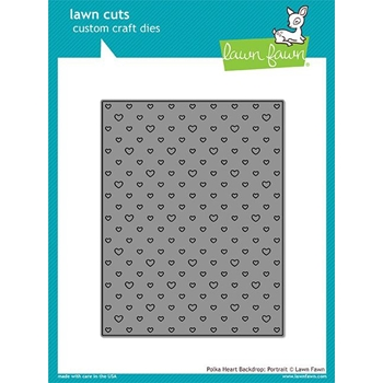 Lawn Fawn PORTRAIT HEART BACKDROP Lawn Cut LF1831