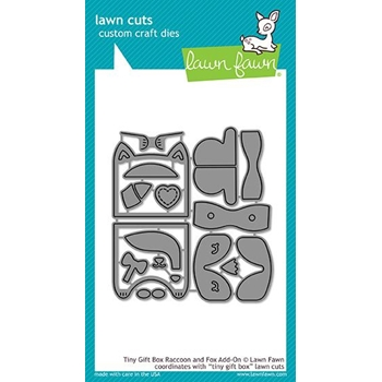 Lawn Fawn TINY GIFT BOX RACCOON AND FOX ADD-ON Die Cuts LF1829